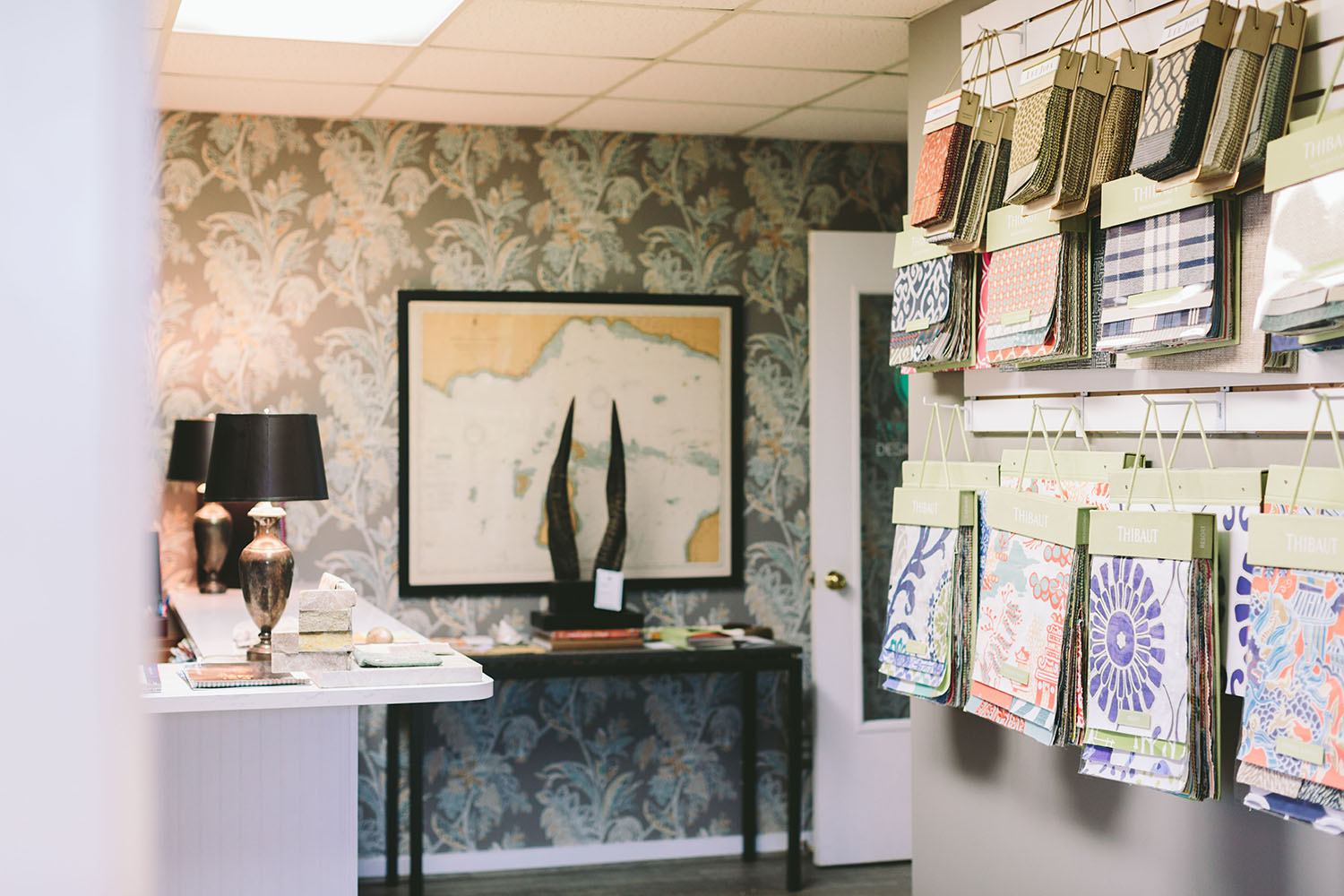 Creative Design at the Cedar Creek Interiors Studio in Elk Rapids, MI