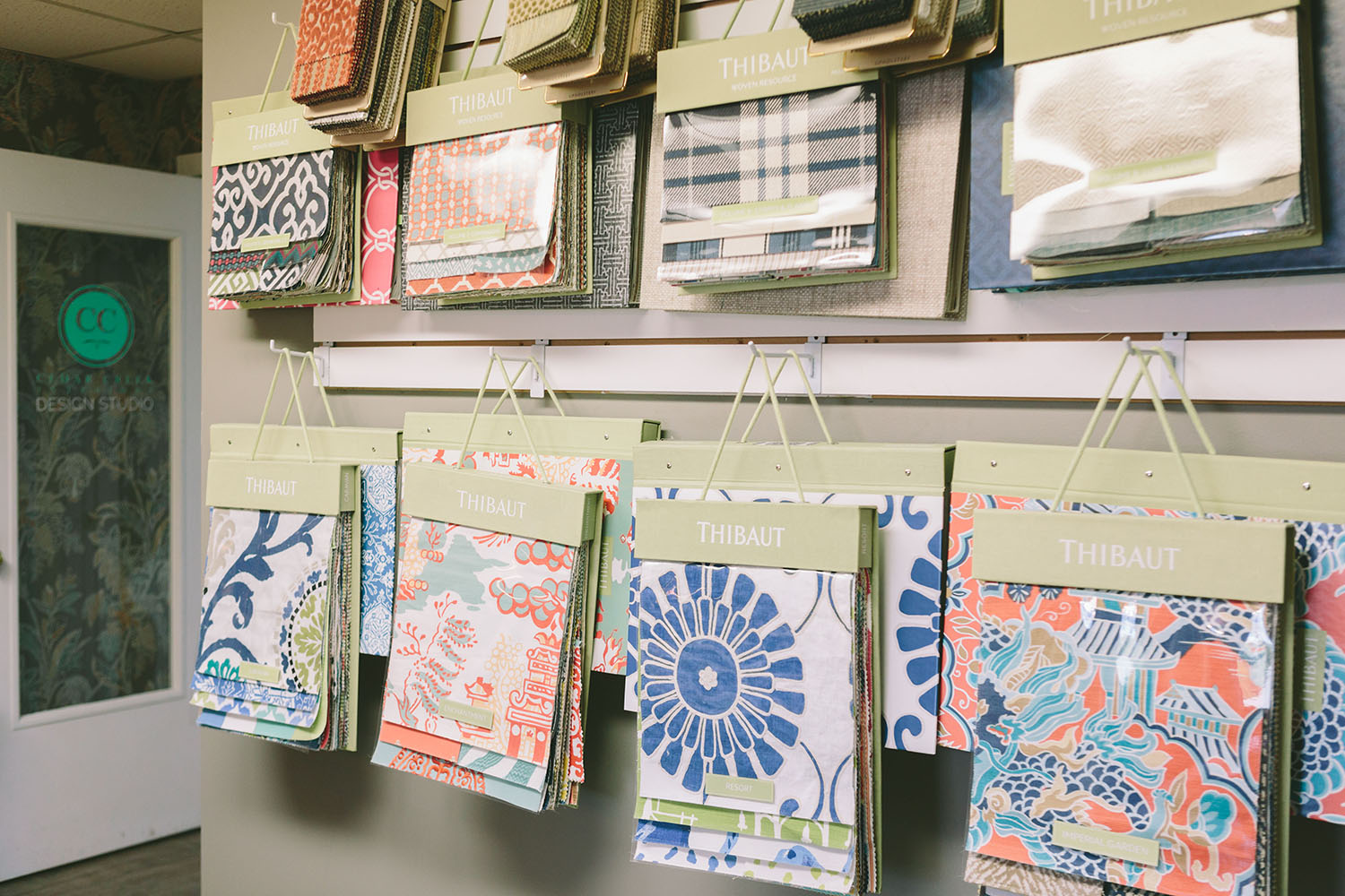 Cedar Creek Interiors Studio in Elk Rapids, MI has a large selection of fabric samples